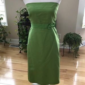 JCrew 100 percent silk strapless dress.  GUC